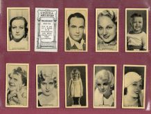 Tobacco cigarette cards Cinema Laurel & Hardy etc 1928